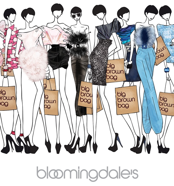 Online AD creating email promotion and site design for  Bloomingdales .