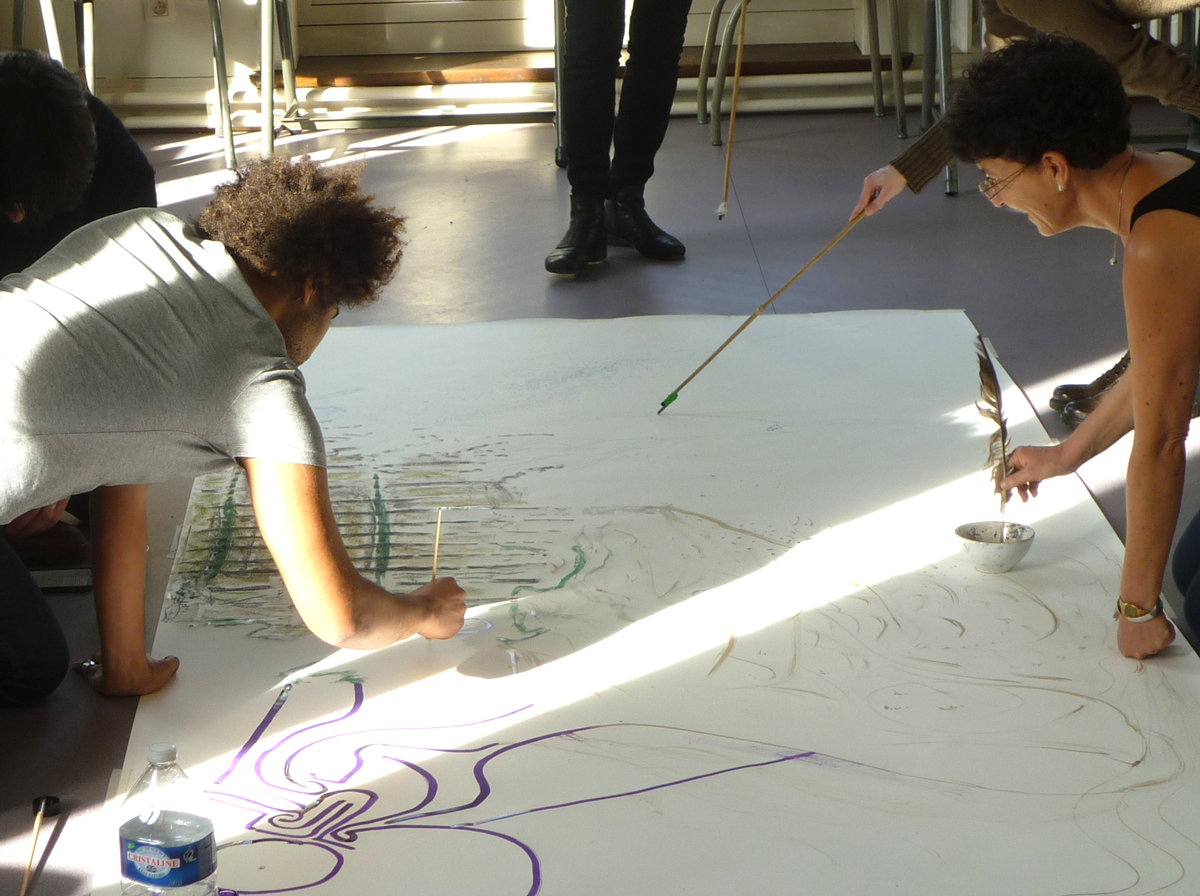 dessin commun /collaborative drawing
