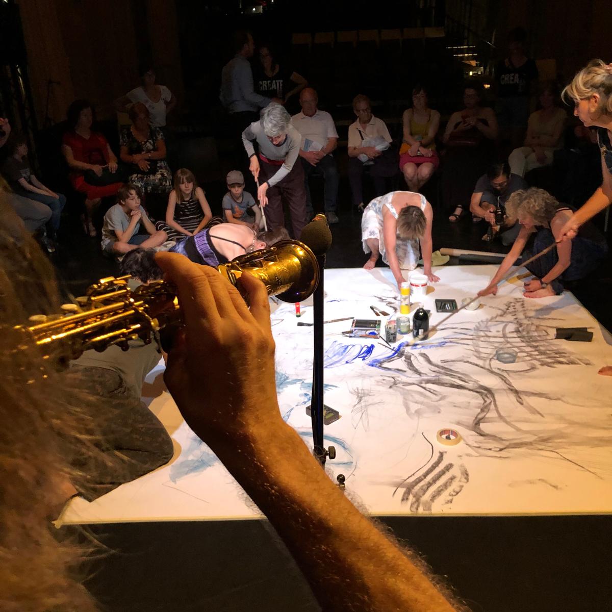 Déballage en juin à la MC, performance dessin et son avec Jean-Jacques Duerinckx