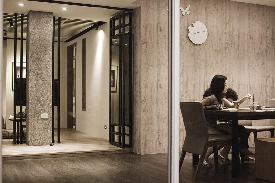 採用台灣建材抿石子打造室內設計