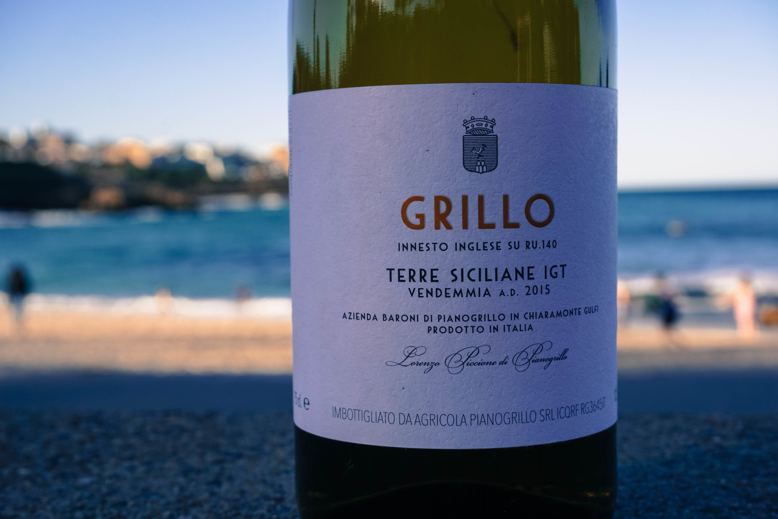 2015 ~ Baroni di Pianogrillo - Grillo Certified Organic   10yr old Grillo sourced from the marl (calcareous clay-based soil) and chalky, dry grown soils on the estate at 480m elevation. Destemmed and fermented on skins for 7 days in an open top concrete vessel, then transferred to stainless for 6 months and left on lees until bottling.  Unfiltered, unfined and only 50ppm sulphur at bottling.