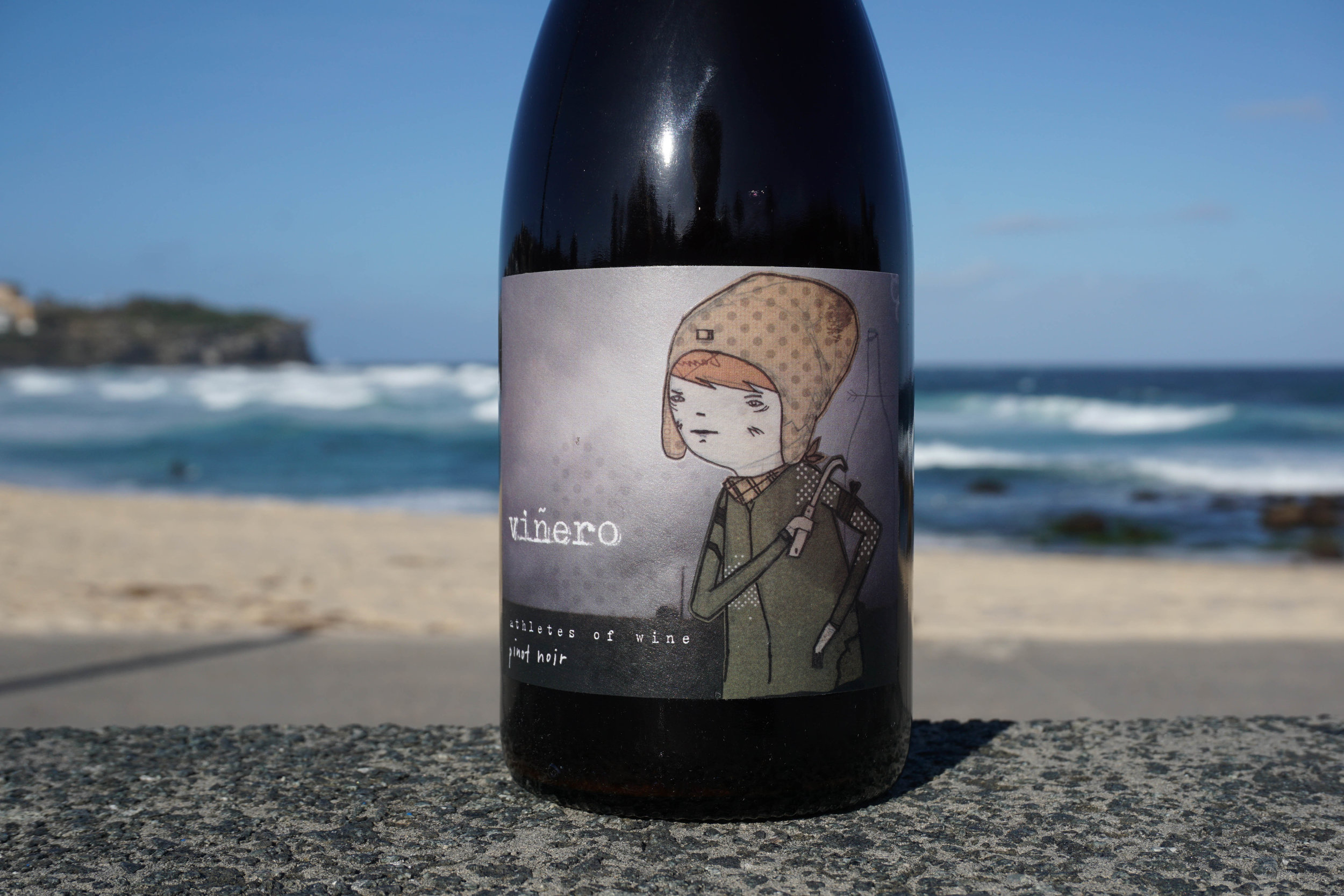 2015 Athletes Of Wine 'Viñero' Hesket Pinot Noir  Organic Practices  Vineyard: Hesket, Macedon Ranges Clone: MV6 Harvest: 2nd April; 1.7 ton/acre Elevation: 660m Soil: Grey and Red loam  100% destemmed; wild yeast fermented; aged on lees in hogsheads for 10 months (one new Saint Martin, plus older Sirugue and Remond); racked once, at bottling; bottled unfined and unfiltered. 50ppm SO2 added at bottling  Total production: 152 dozen