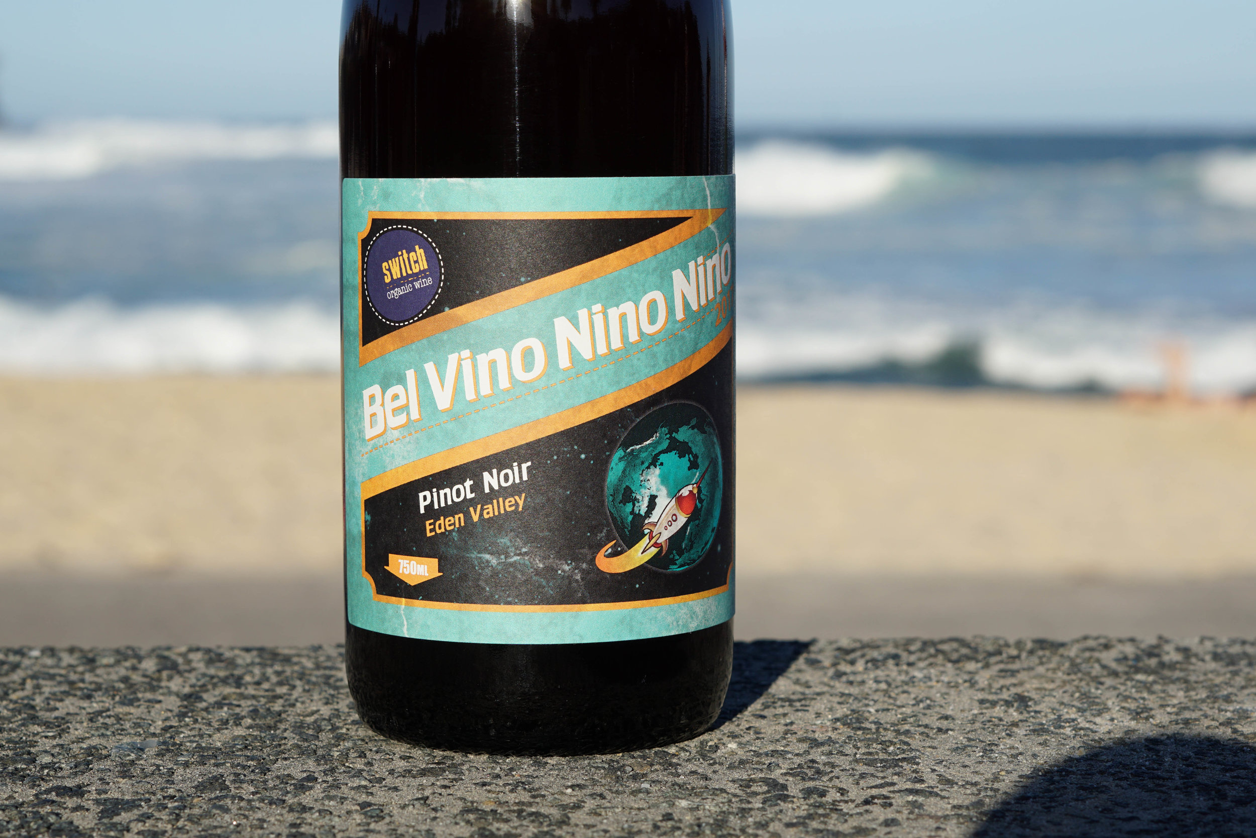 2017 ~ BEL VINO NINO NINO - Certified organic approx 1500 bottles produced.  After selling out too darn fast last year, the Bel Vino Nino Nino is back and as bright as ever...  Flavours of cherry, raspberry and wild violets lifted with an undercurrent of coffee and drying tobacco leaves.The palate flows with flavours of cherry and forest berries directed by tight acidity to a long finish.  Whole bunches of hand-picked Eden Valley Pinot Noir sourced and handpicked from the Marneden Springs vineyard at 400m elevation on brown sandy loam with partial quartz matter. Half of the production was carbonic macerated in 200kg parcels for two weeks, the other half was made with approximately 50% whole bunch ferment and from 4 to 14 days on skins, small batch ferments and each ferment is assessed on its own merits as to when it's to pressed to barrel for a 9 month maturation period.  Bottled without filtration, no finings and small doses of sulphur before closure. 40mg/L total SO2