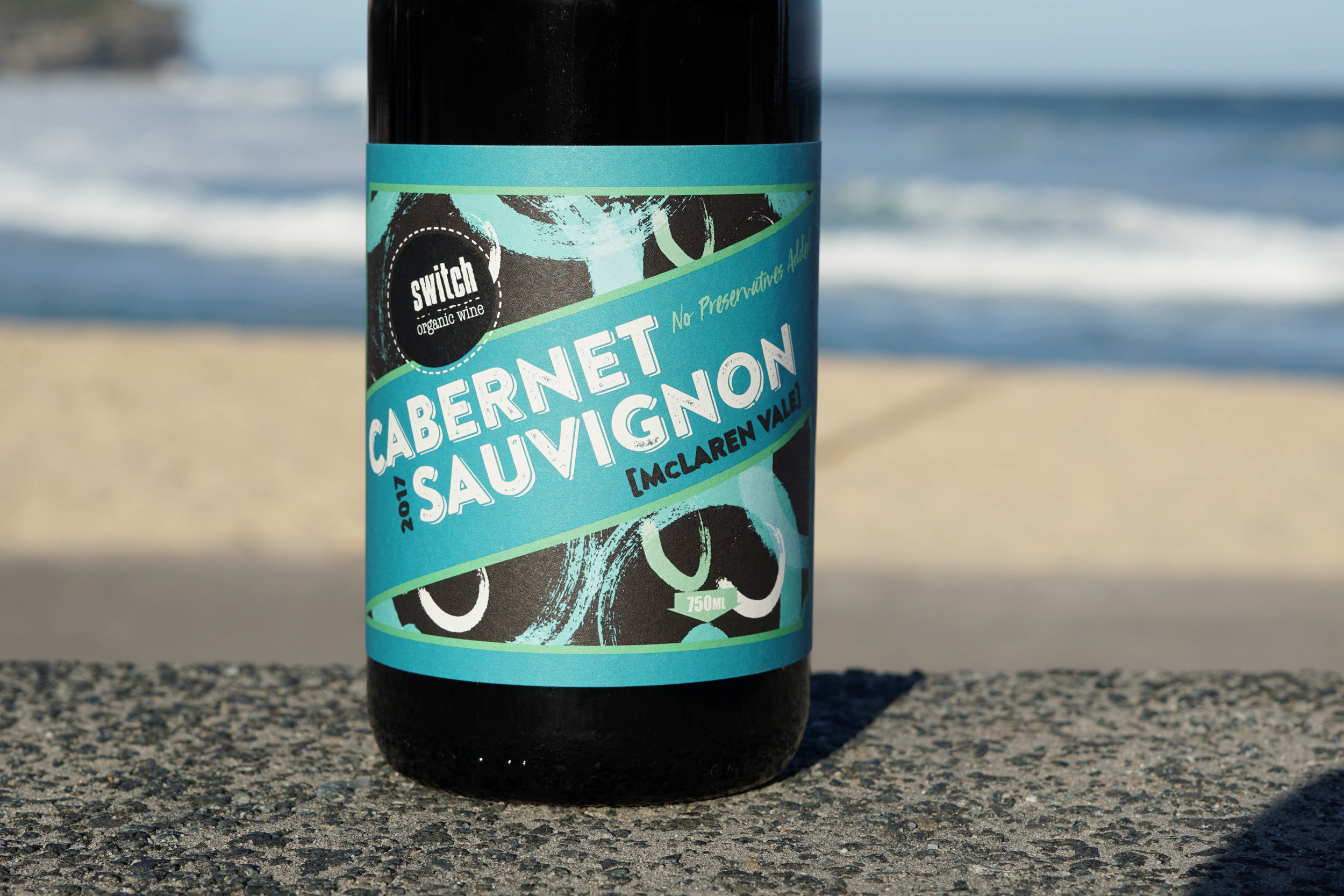 2017 ~ CABERNET SAUVIGNON - Preservative free - Certified organic approx 1060 bottles produced.  100% destemmed (by hand) Cabernet Sauvignon sourced from clay based soils in the McLaren Vale at 95m elevation goes through a wholeberry ferment. Basket pressed 10 days later, and approx a month later completing primary fermentation in stainless steel. Racked off lees after full malolactic fermentation.  Bottled without filtration, no finings and zero added sulphur.