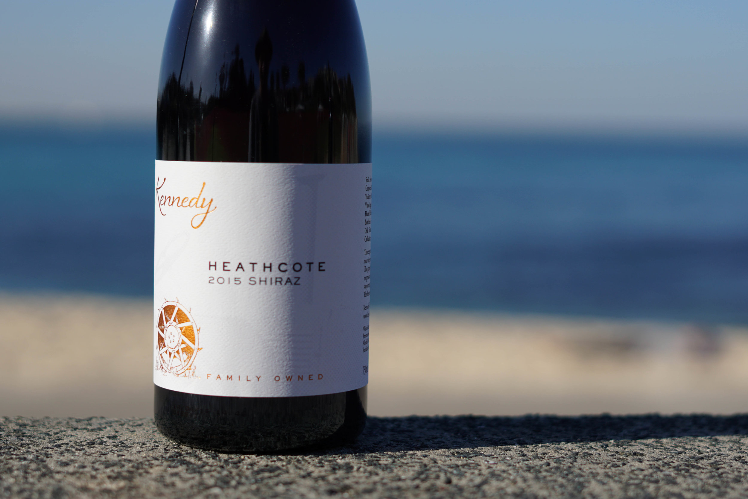 2015 Kennedy Heathcote Shiraz   100% Shiraz 2T/acre    Handpicked as bunches at 240m elevation on Cambrian soils (Iron rich with jasper, chert, seafloor basalt/greenstone). Shiraz is 70% destemmed whilst the remaining 30% remains as wholebunches, the fruit undergoes 4 days of cold soak before wild fermentation commences in open top stainless steel vessels for a total of 7 days. Gentle pumpovers occur once daily for first 2-3 days followed by hand plunging until pressing   The wine remains on skins for a total of 18 days before being pressed to a combination of old French oak and 15% new French oak. Here, the resulting wine completes full wild malolactic fermentation and matures on lees for a total of 11 months before it is racked and blended to bottle.  Unfined, unfiltered and 50mg/l SO2 added.