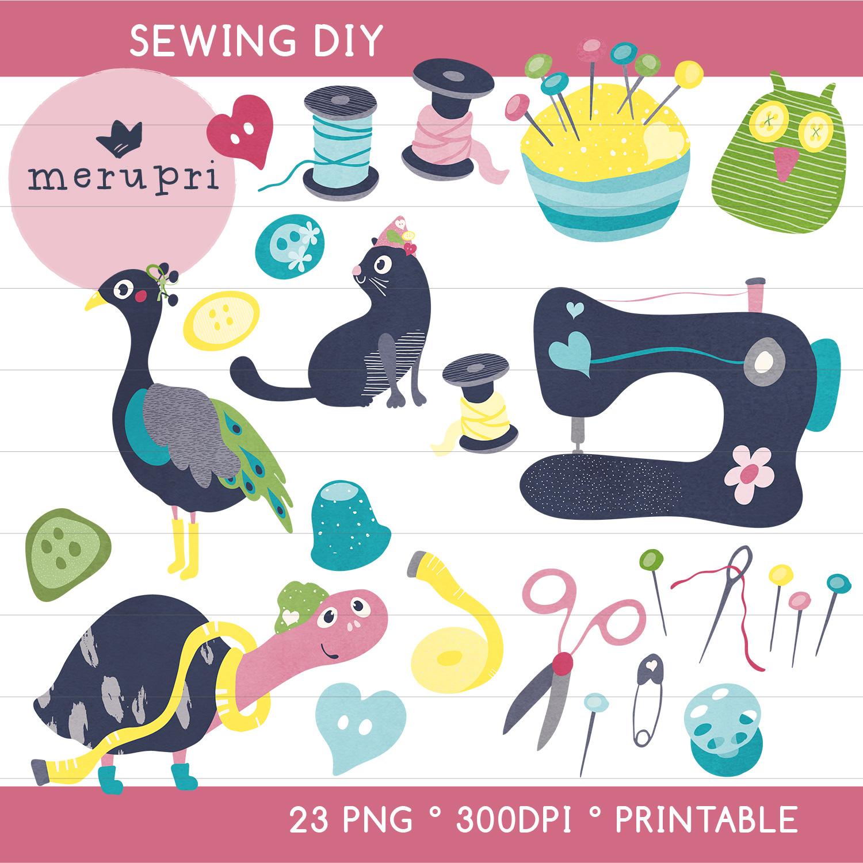 """Clip Art Set """"Sewing 2"""""""