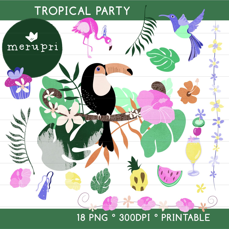 """Clip Art Set """"Tropical"""""""
