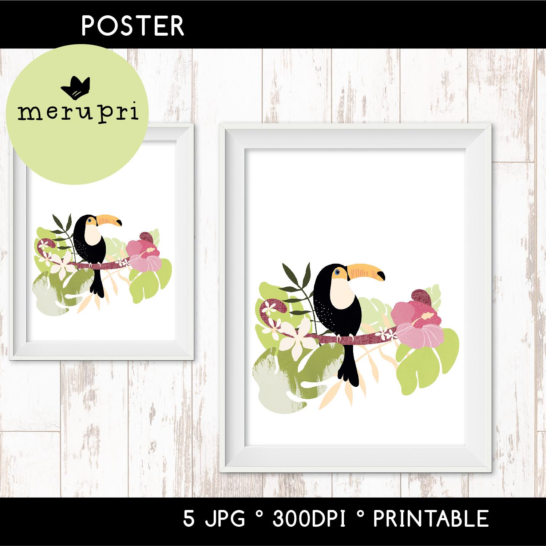 """Printable Poster """"Tropical"""""""