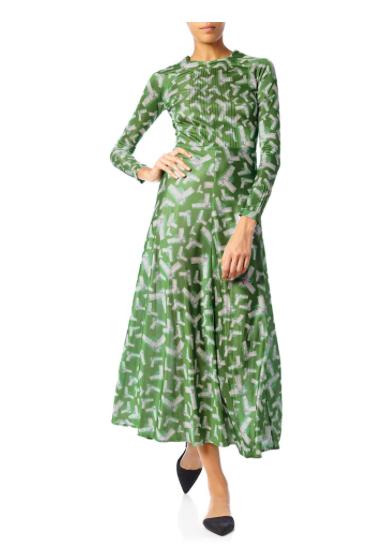 Morv -  Pintuck Gunpoint Dress