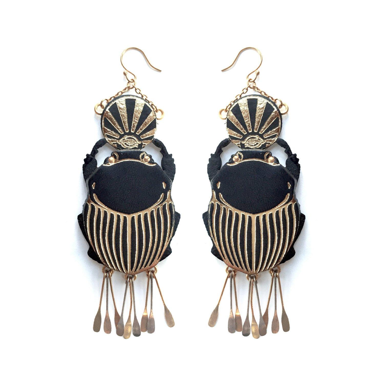 Rosita Bonita Sacred Scarab Earrings