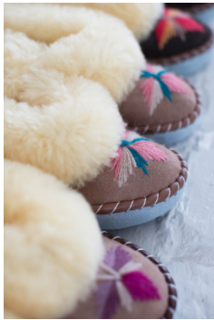 The Small Home - Handcrafted Sheepskin Moccasins