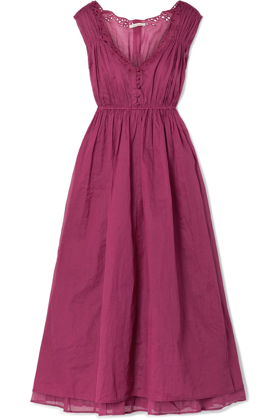 Mes Demoiselles Clothide broderie anglaise cotton-voile midi dress