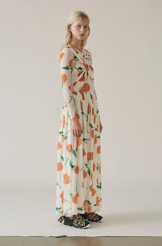 Ganni Tilda Mesh Maxi Dress