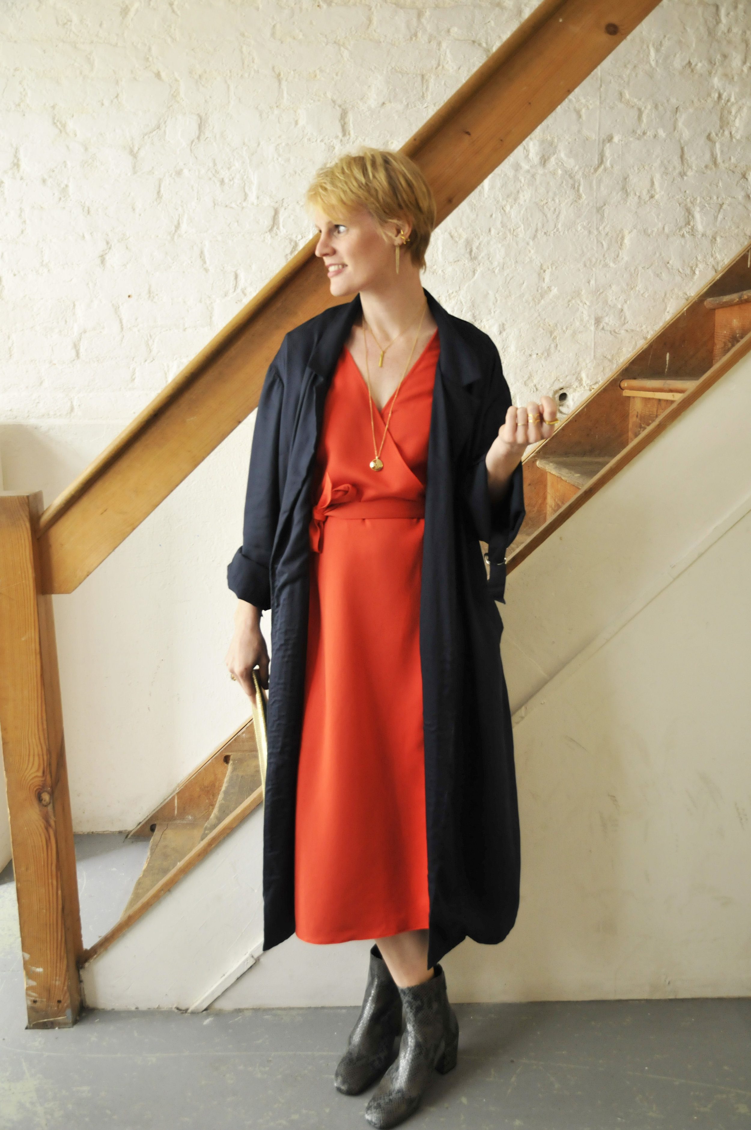 People Tree Coat from The Acey  The Acey Dress  Seven Boot Lane Boots