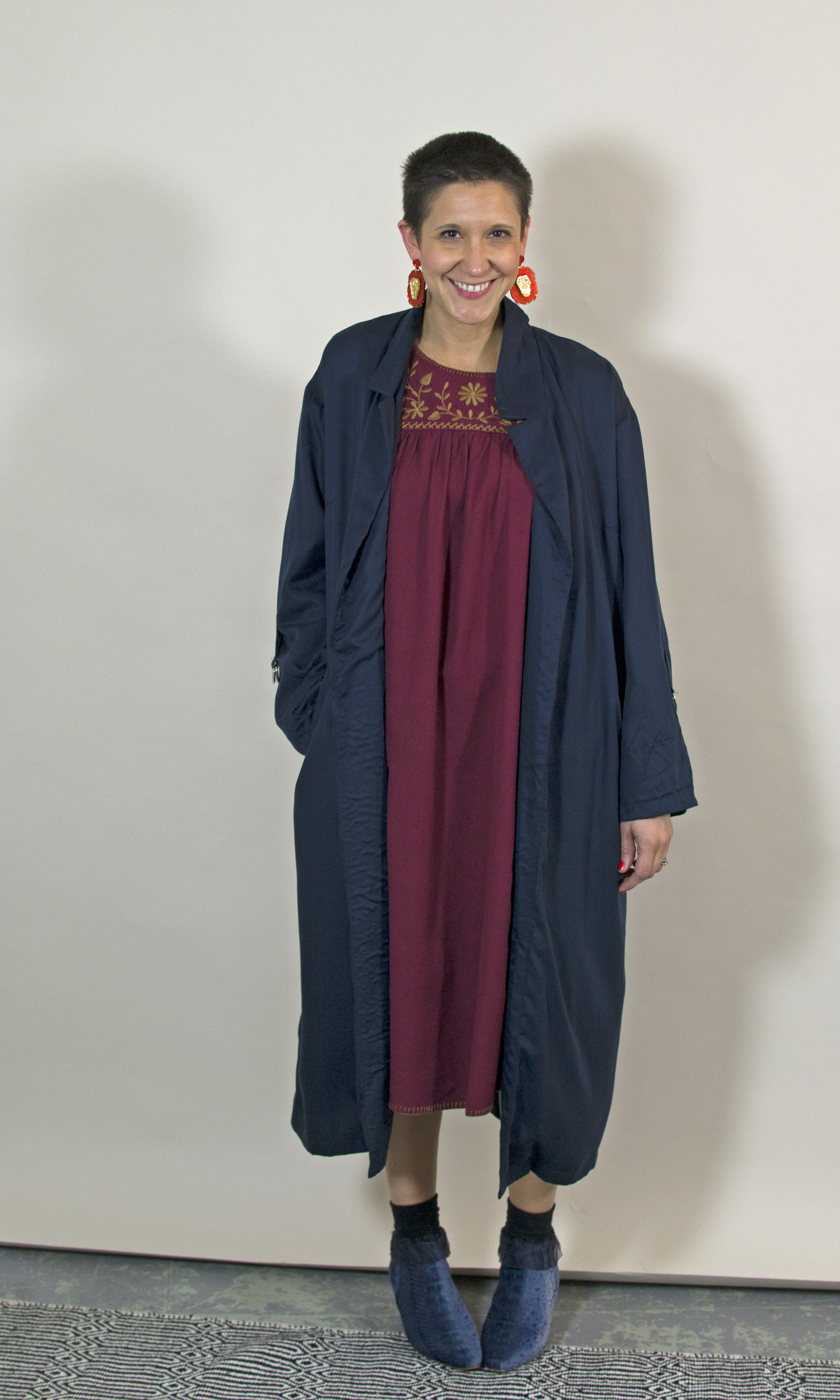 People Tree Coat from The Acey  Apolina Dress from Olive Loves Alfie  Miista Boots