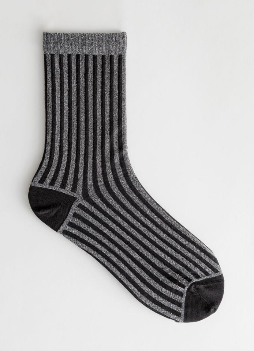 & Other Stories Stripe Glitter Socks
