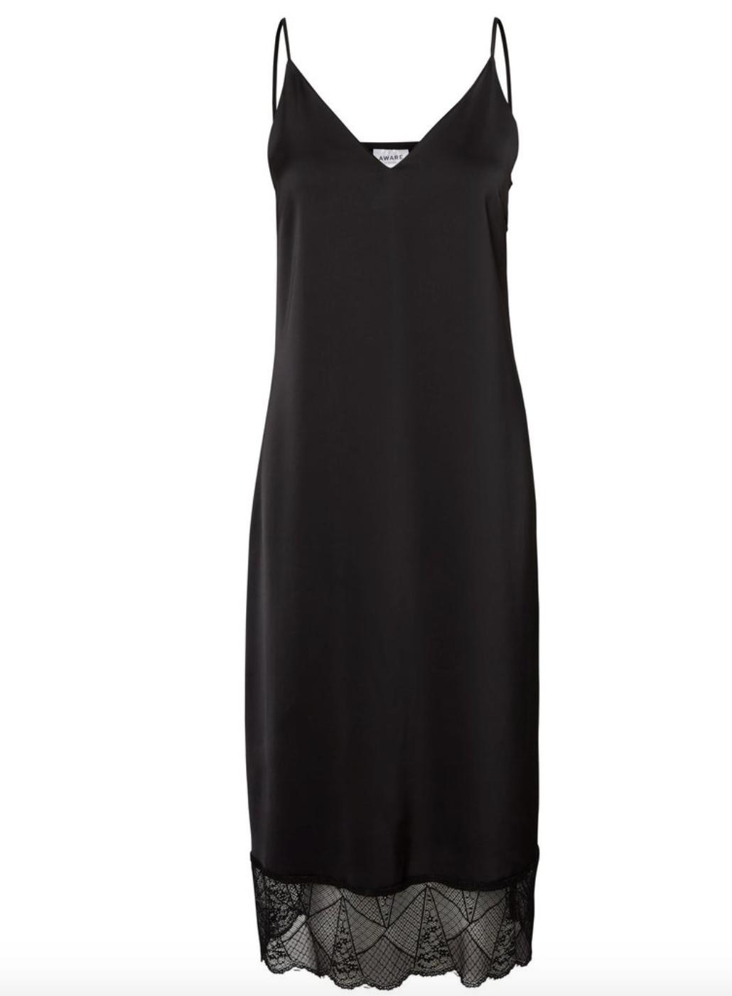 Vero Moda Black Slip Dress - Born at Dawn