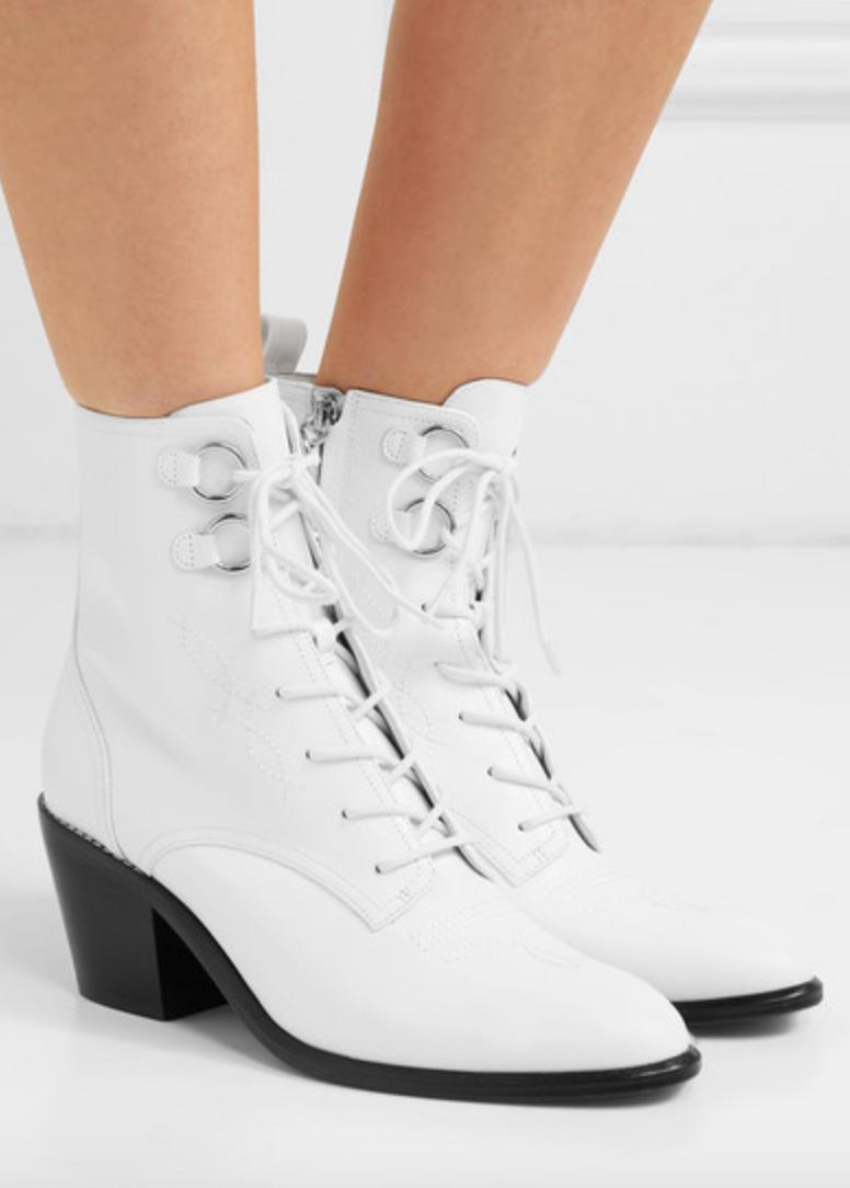 Diane Von Furstenberg Dakota Lace-Up Ankle Boots