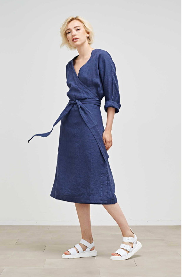 Maske Henny Linen Wrap Dress