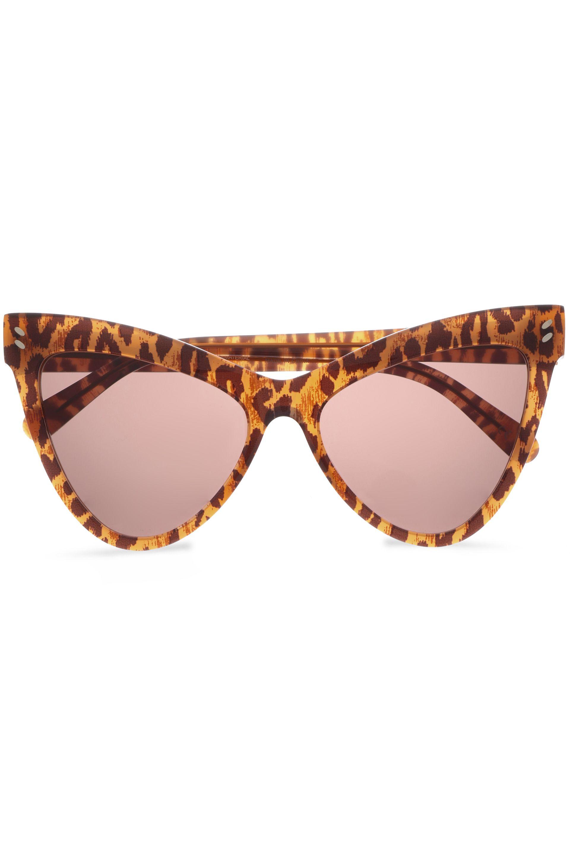 Stella McCartney Cat-eye Leopard