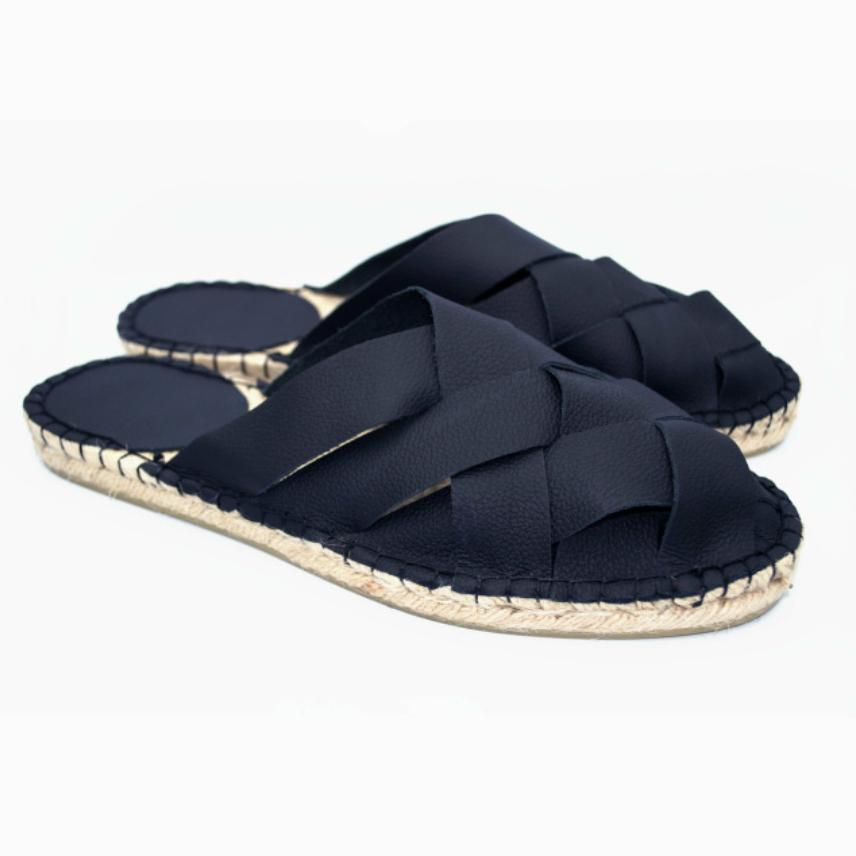 Jutashoes Woven Sandal Black