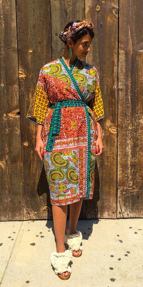 Printed Pattern People Laaba Kimono