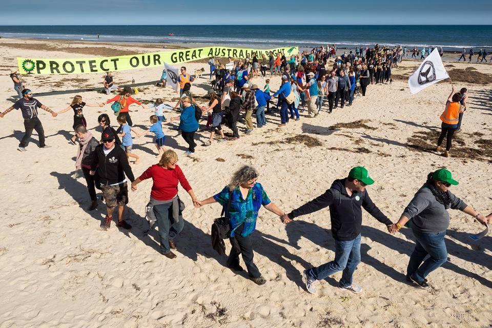 Hands across the sand -