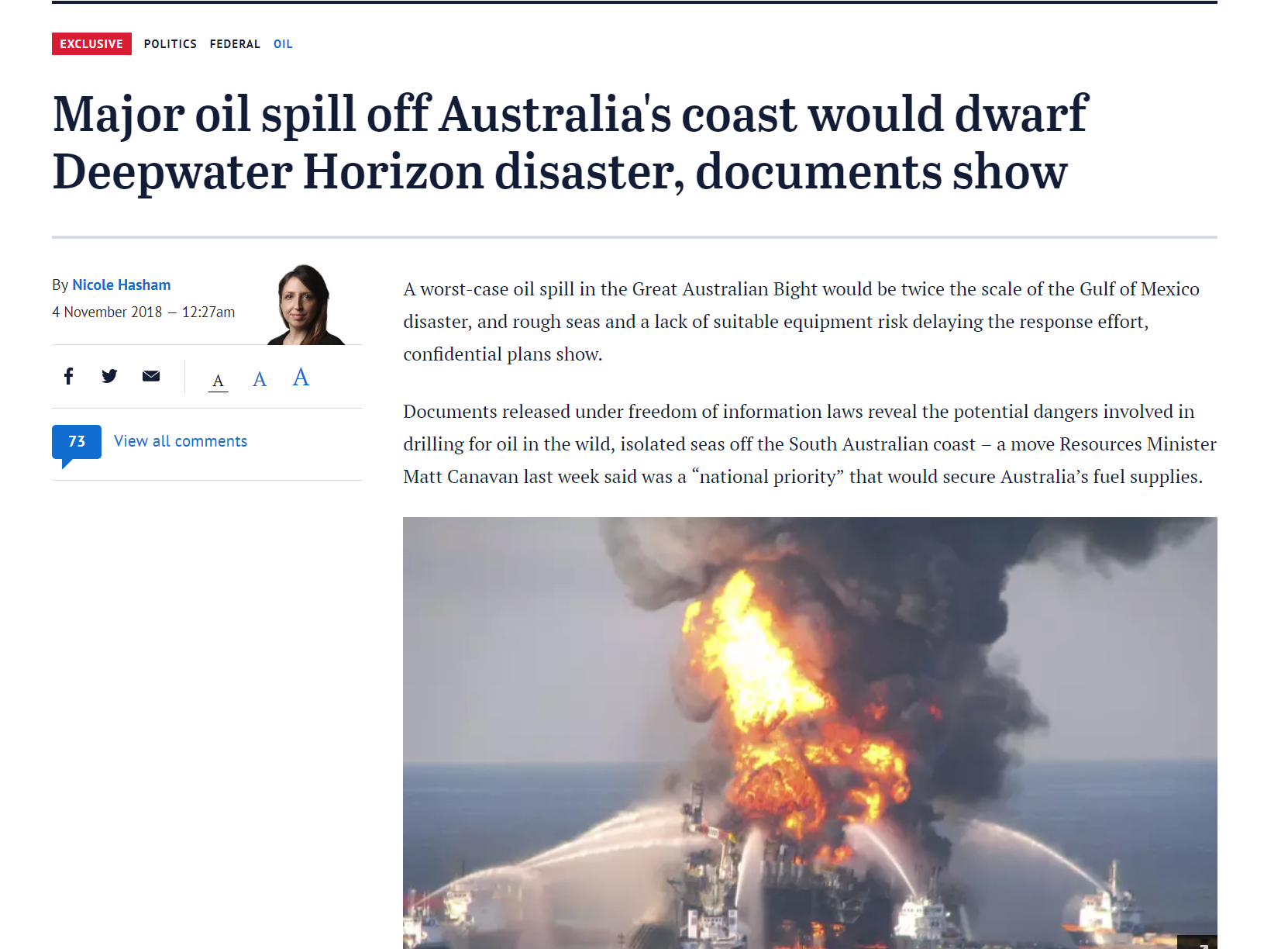 Spill in the Bight would dwarf BP Deepwater Horizon