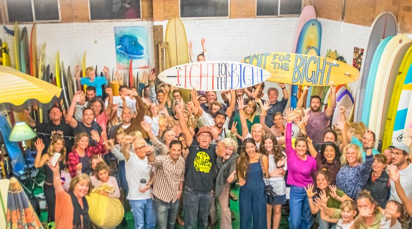Local campaigners getting behind the Fight for the Bight campaign. Picture: Chris Hewgill.