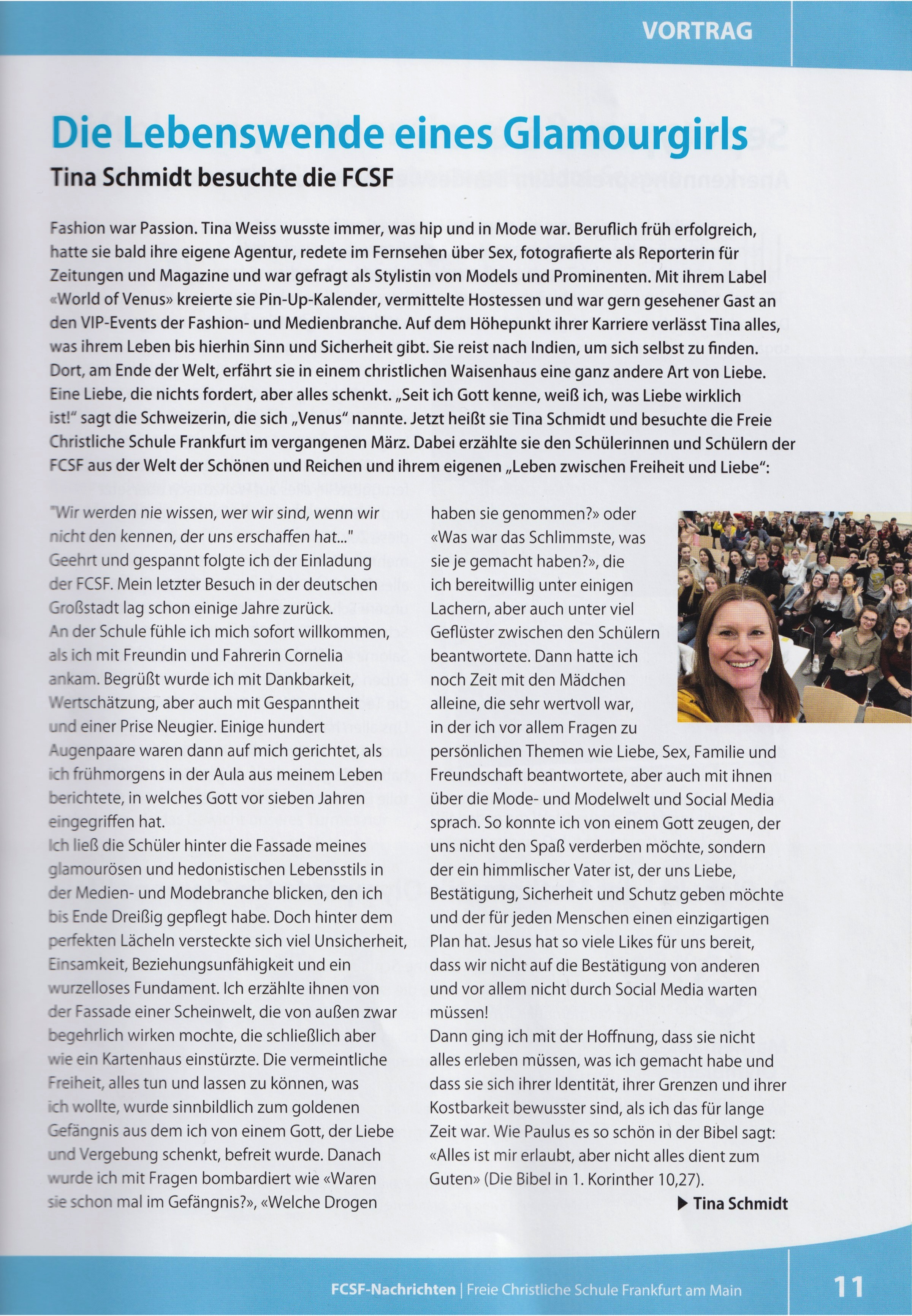 Magazin der FCSF -Freie Christliche Schule Frankfurt, Juni 2019