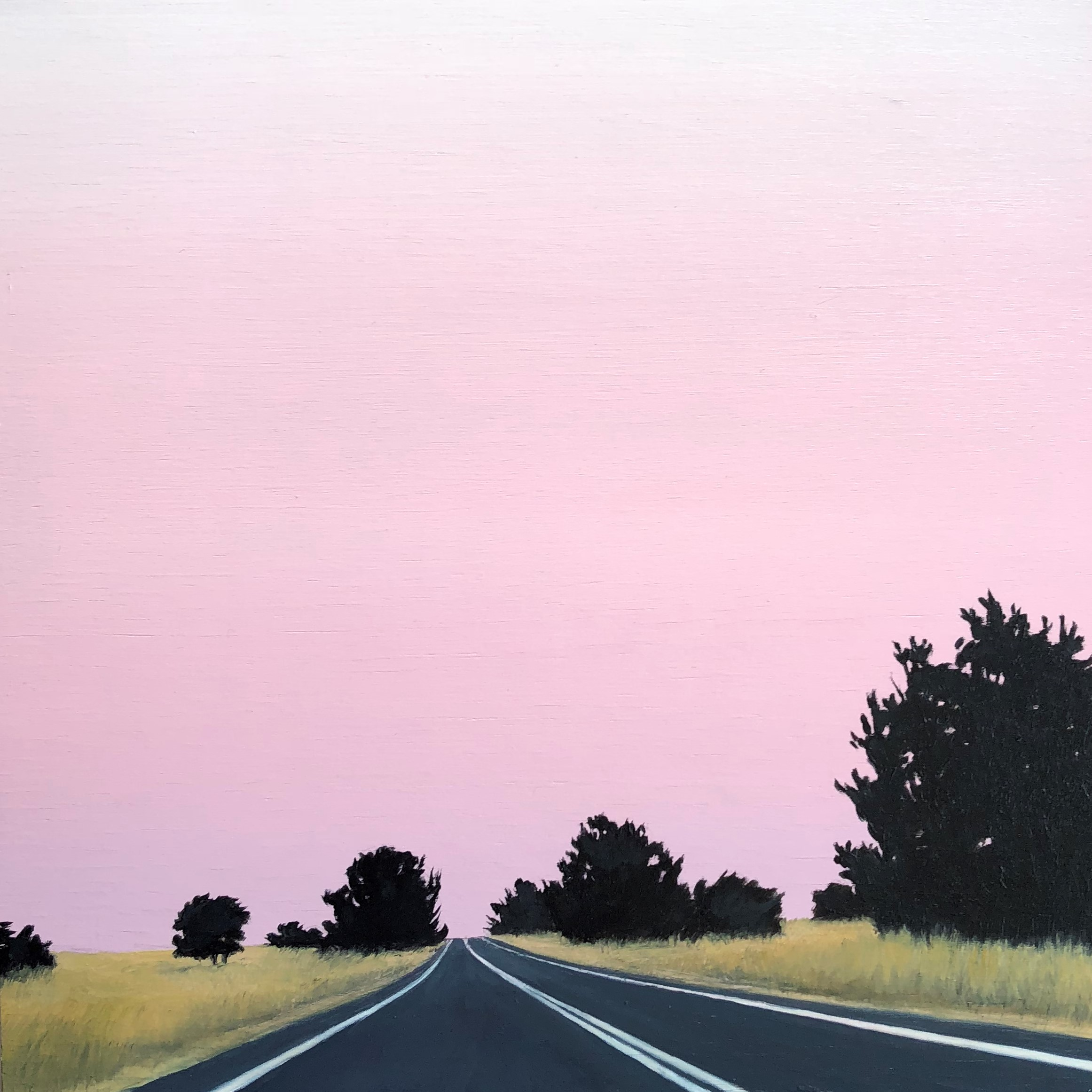 Straight Road, Pink Sky