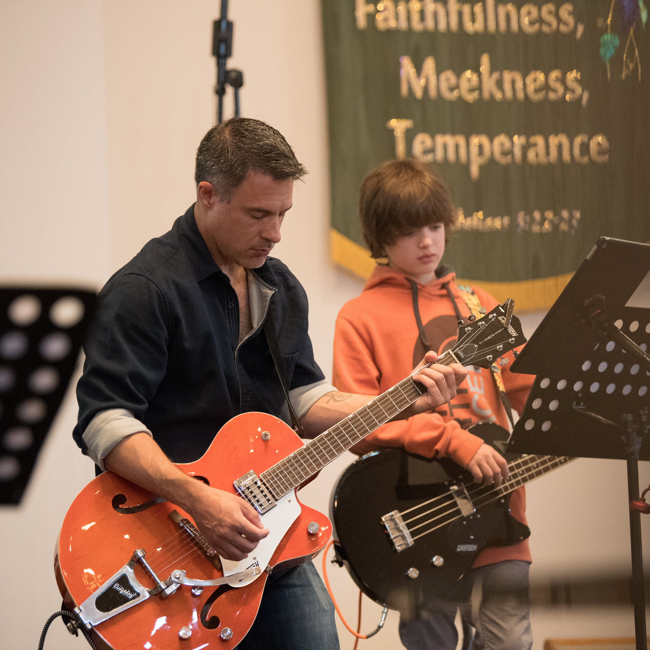During our service, you will experience great musicfrom our band and Bible-based teaching from one of our pastors.TreeHouse Kids provides a fun and safe place for 2 year oldsto 5th graders to discover more about God.From our nursery, you can both see and hearthe entire service in a space whereyour littlest ones will be comfortable. -