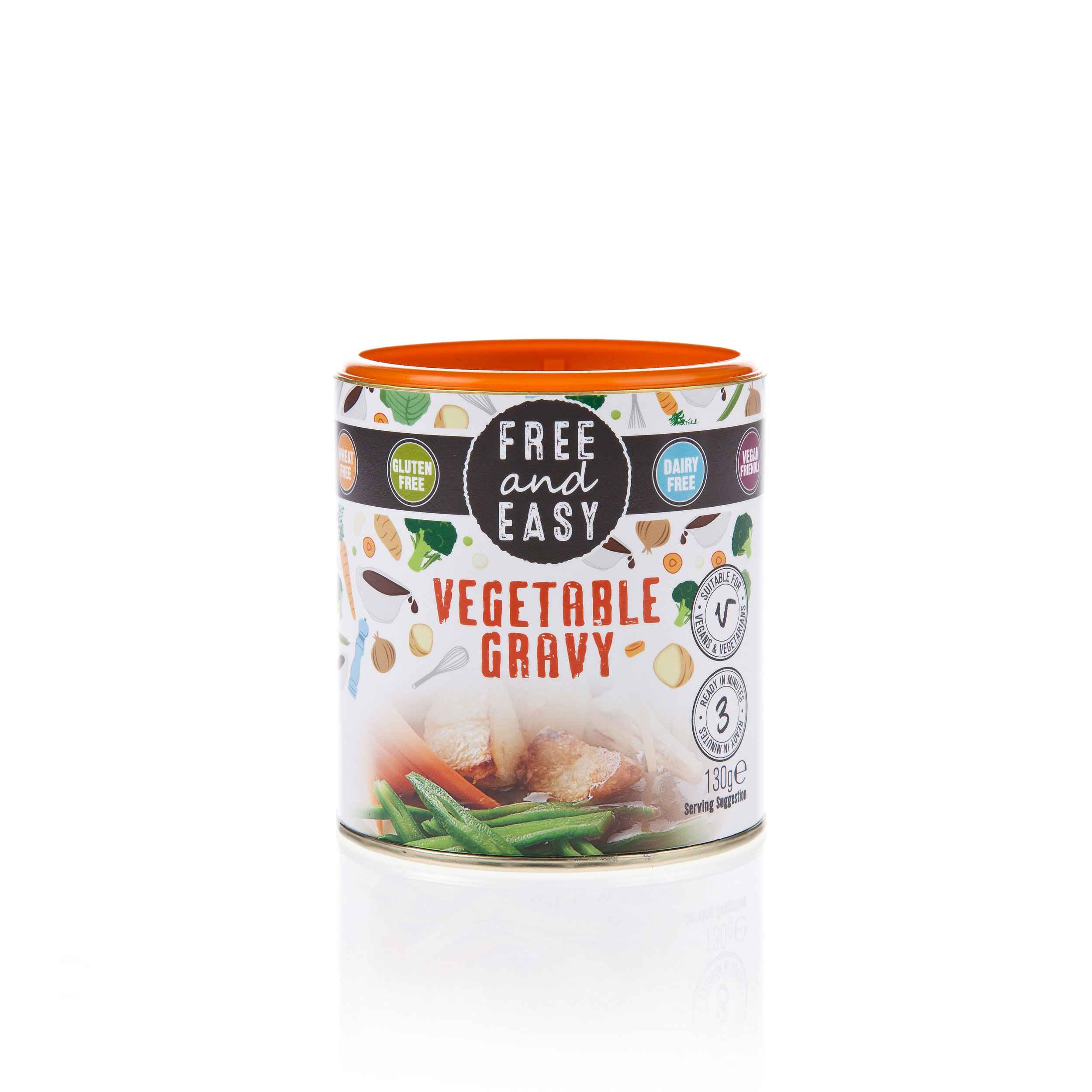 Free and Easy Vegetable Gravy - A blend of dried cereals and vegetables, The easy way to make a rich flavoured sauce.130g