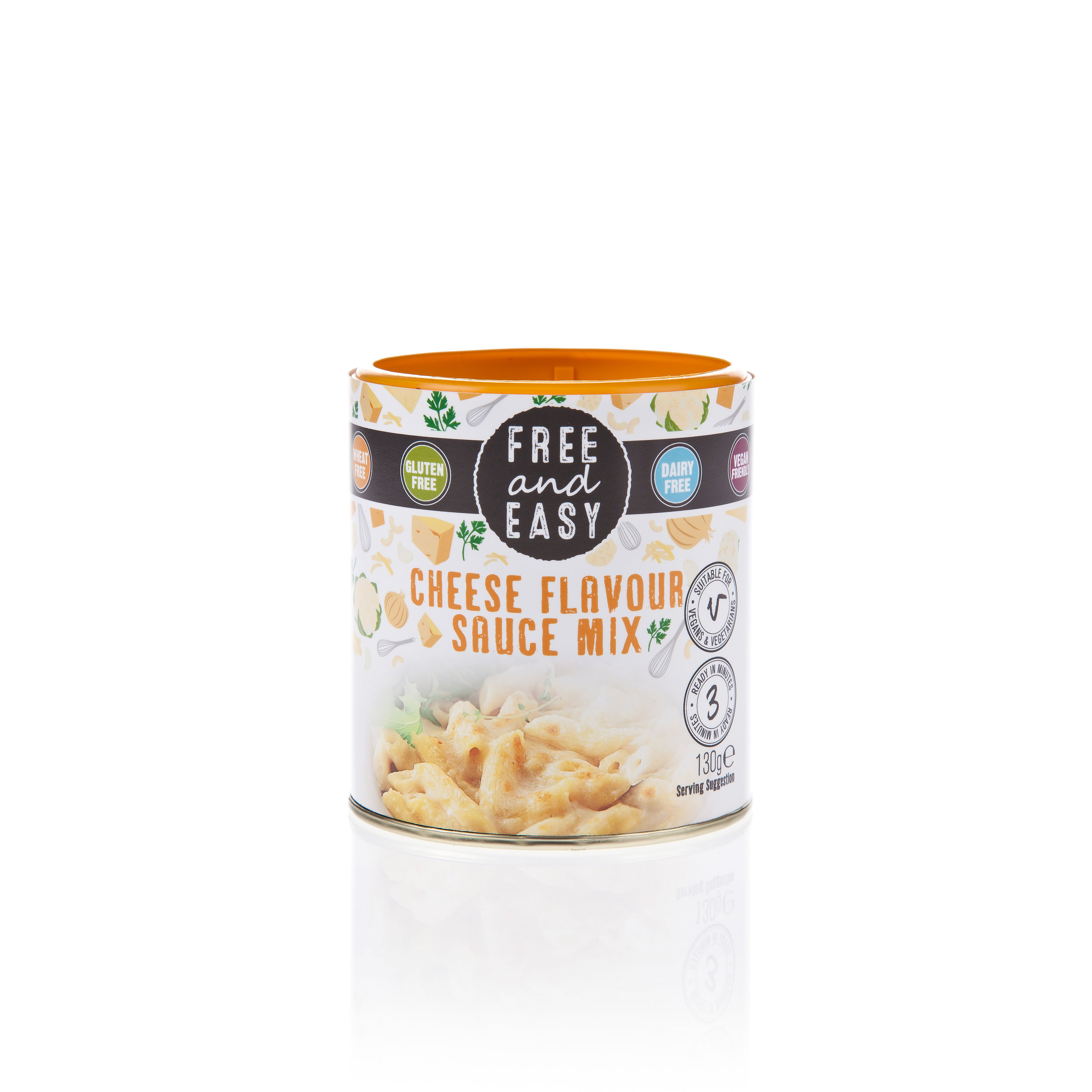 Free and Easy Cheese Sauce - Ready in 3 minutes, Low fat, Celery, nut, wheat, gluten, dairy and mustard free, Preservative free, Suitable for vegans and vegetarians.130g
