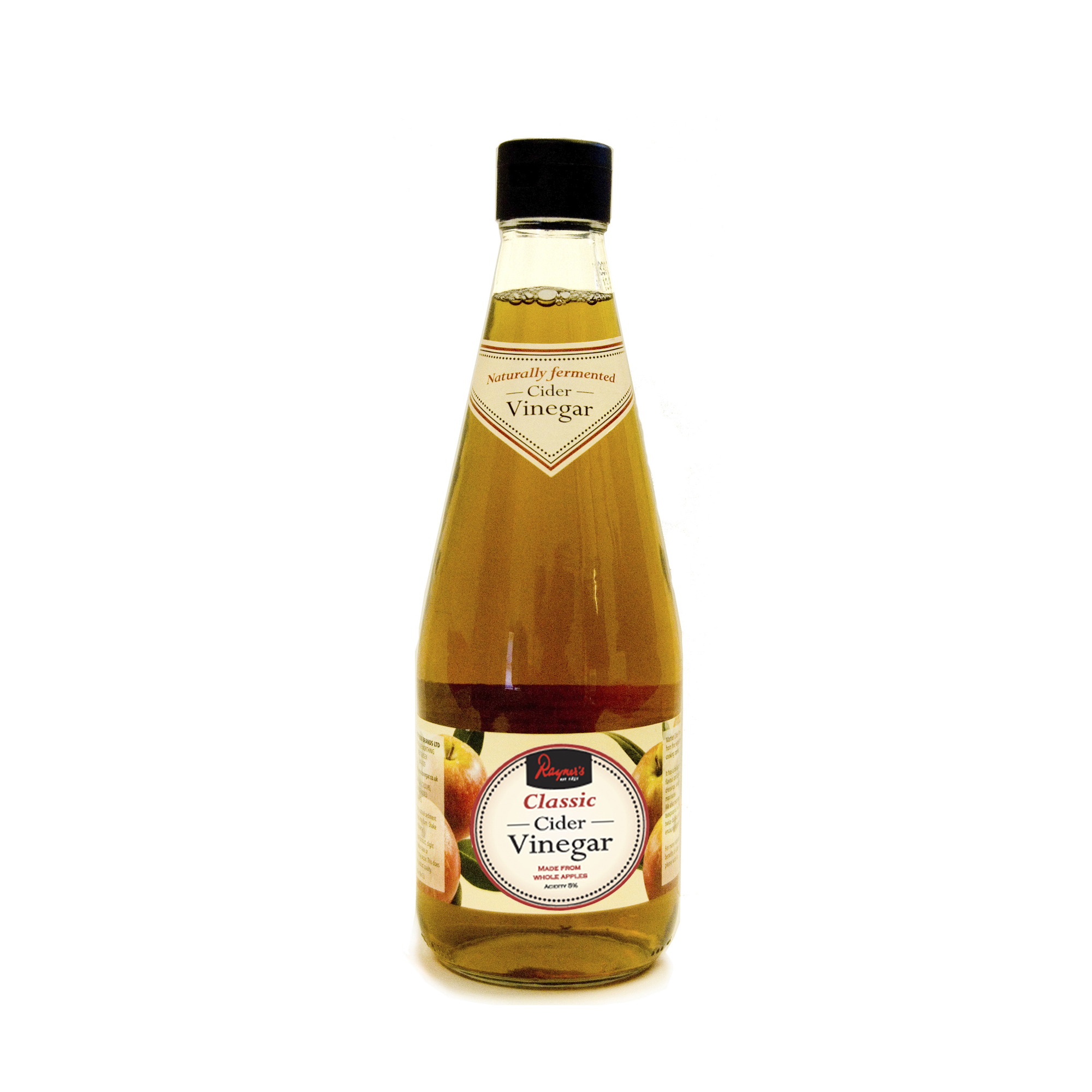 Rayner's Classic Cider Vinegar - Naturally fermented. Rayner's Cider Vinegar is made from whole dessert and cooking apples.500ml and 1000ml