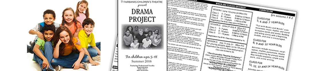 You'll find the Drama Project Brochure and Registration Form available HERE after May 1 of each year.
