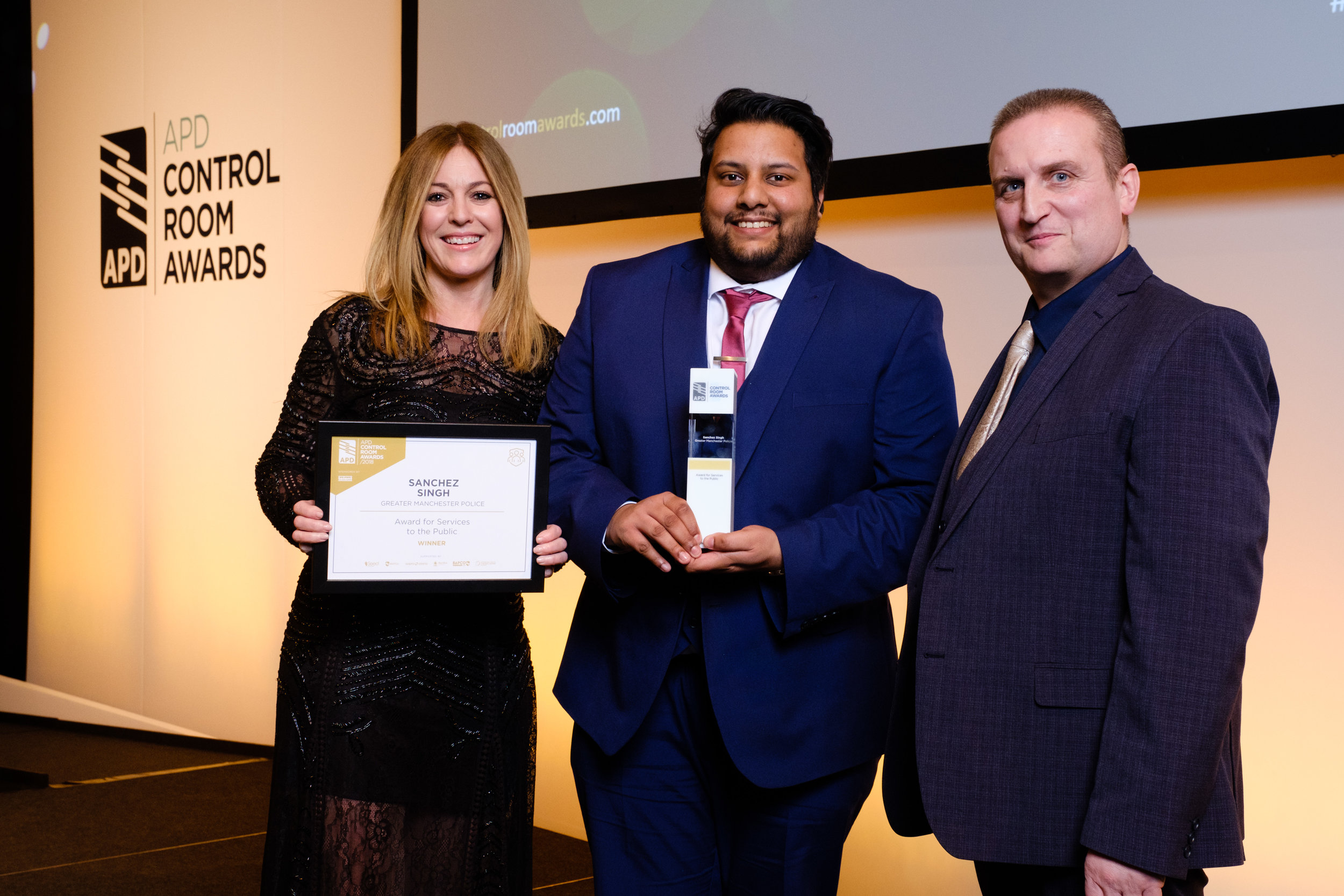 Sanchez Singh, winner of the Award for Services to the Public