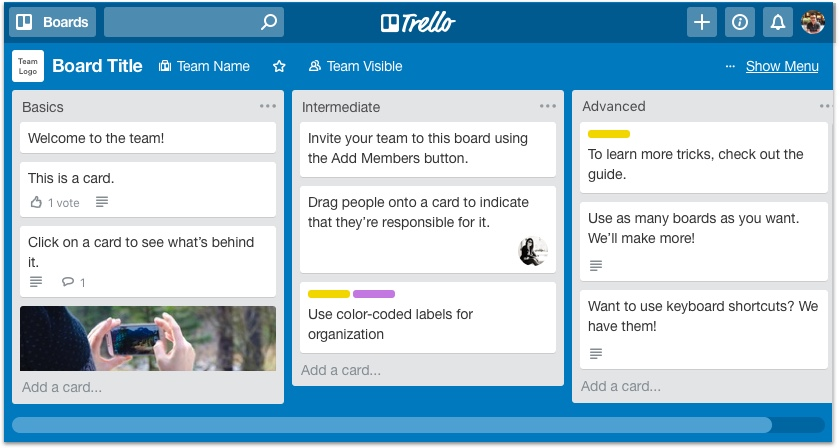 For more details check out the official  Getting Started with Trello  page.