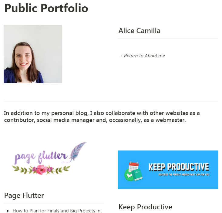 - For example, I've recently used Notion to create a public portfolio of my work online that people can easily visit clicking a link. Being able to drag and drop different blocks in columns, allowed me to set up the page layout with much more freedom than a normal writing document, with zero effort compared to building a webpage from scratch.