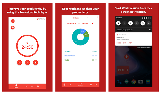Brain Focus Pomodoro Timer App - Best to Try