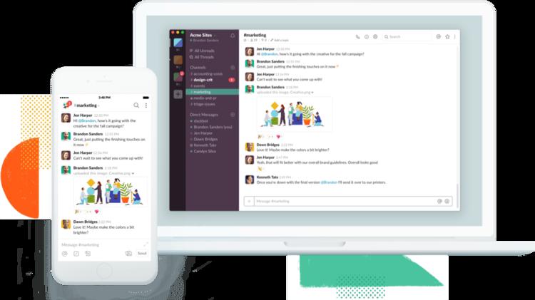 Slack - Best apps for coworking