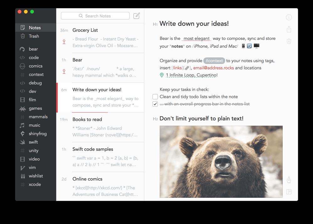 Top 5 Evernote Alternatives - Bear.png