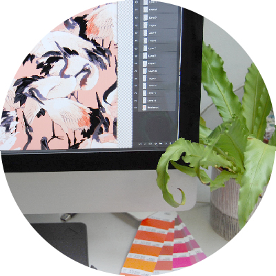 3. production ready - With our experience in screen, digital and sublimation printing, we deliver all designs in a format that suits your production team - your prints will be in full repeat, colour separated & produced on a spec sheet so they are ready for production.