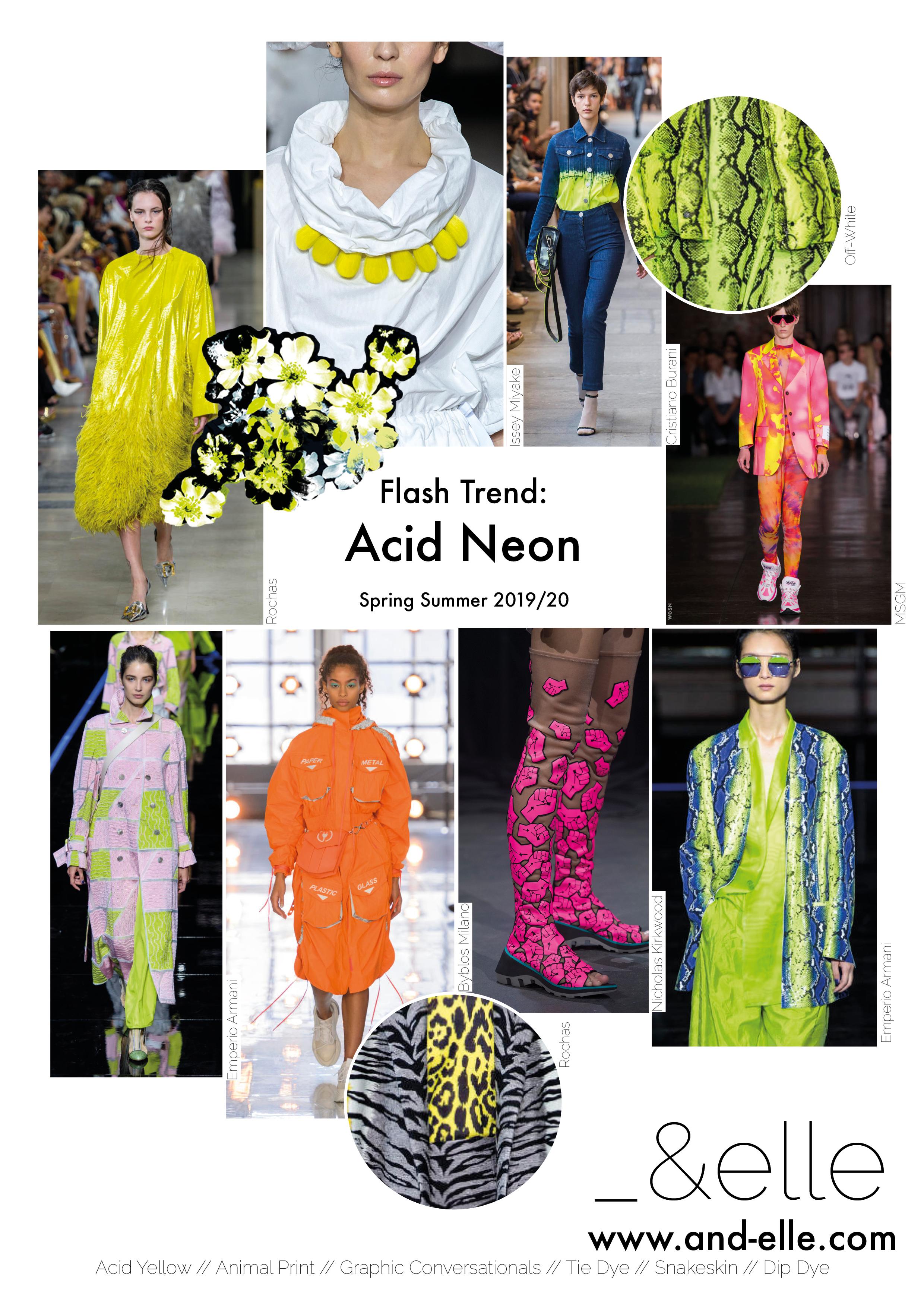 Trend Report SS19 Print Design Neon