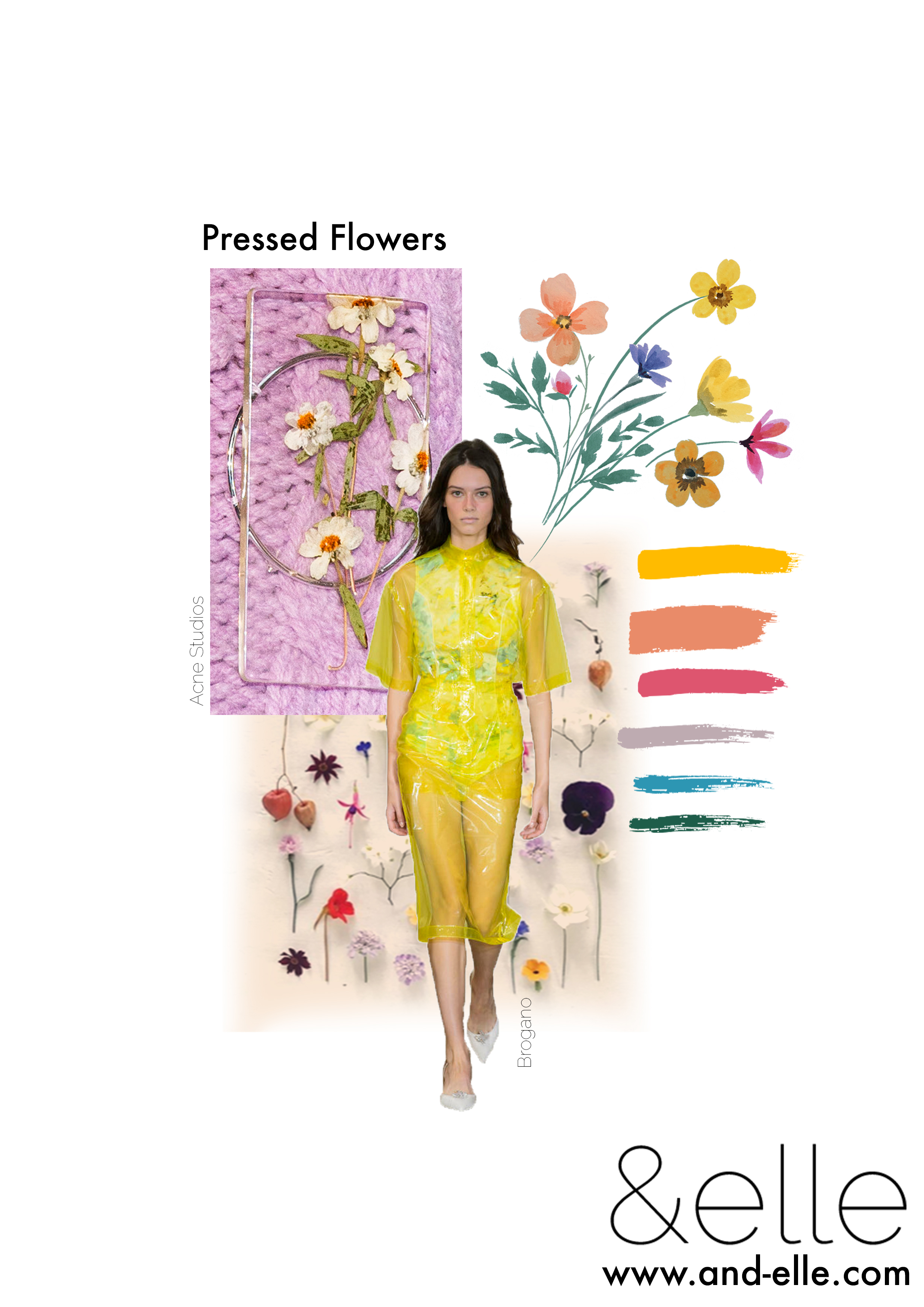 And Elle Trend Report Pressed Flowers