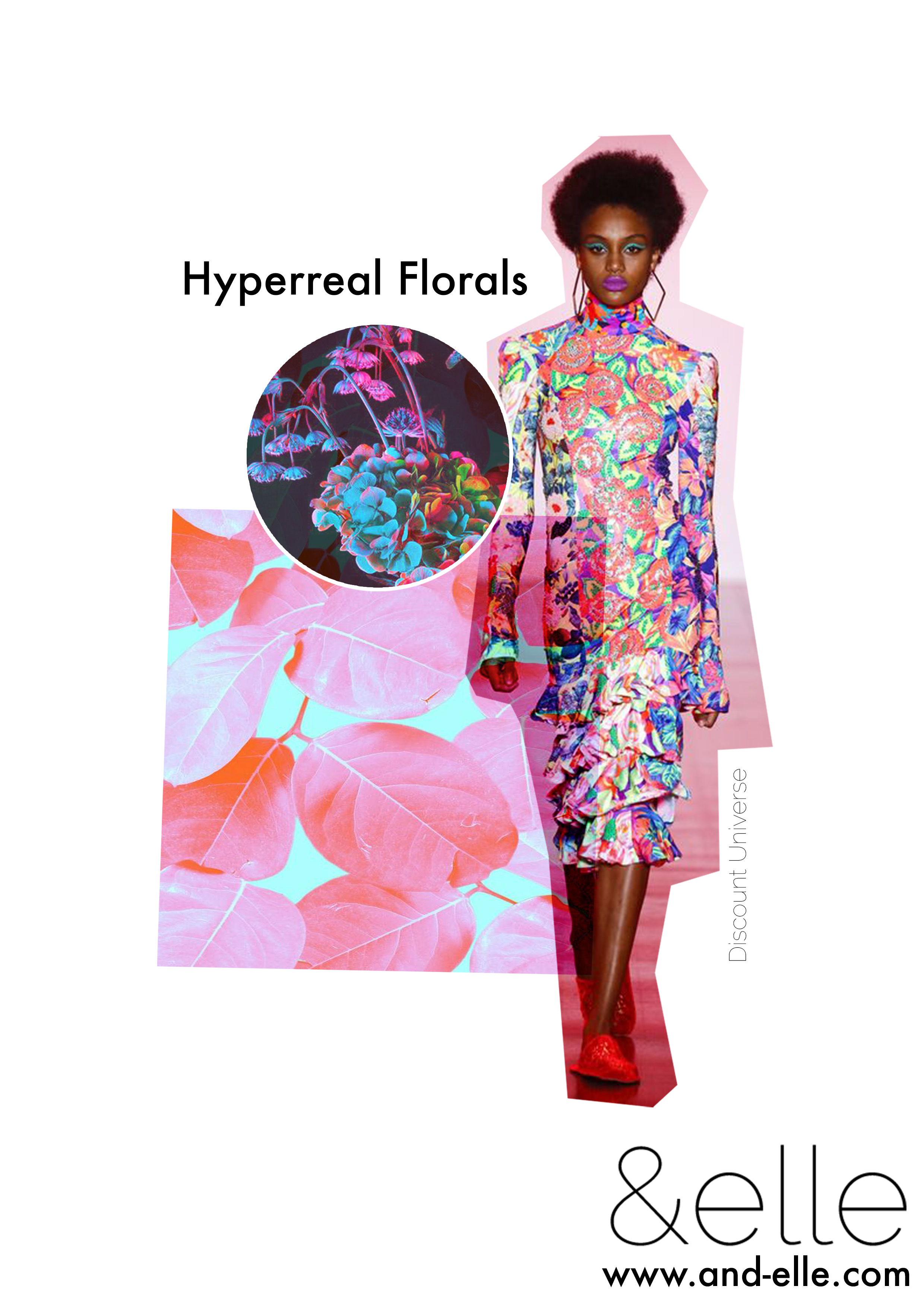 Floral Hyperreal Bitesize Board And Elle Trend Report Freelance Textiles Print Design