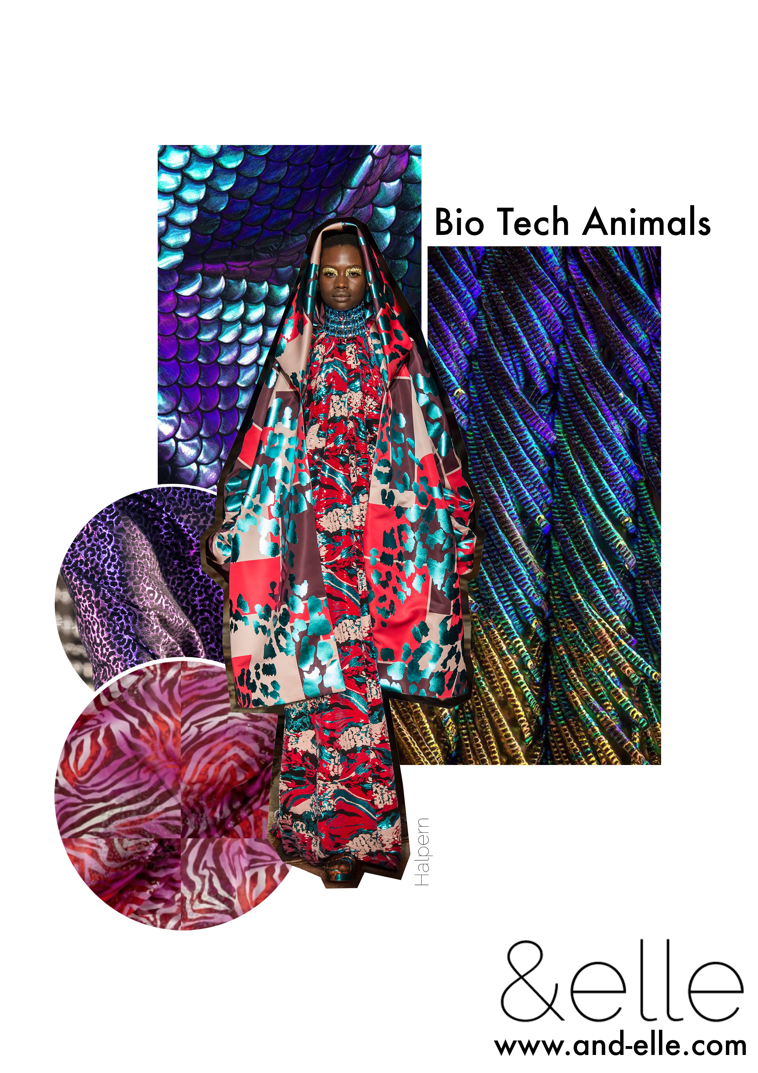 Bio Tech Animals Bitesize Board And Elle Trend Report Freelance Textiles Print Design