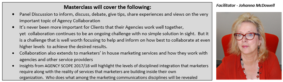 IAS has structured this line up of highly experienced marketing professionals in order to assist agencies improve their collaboration skills: