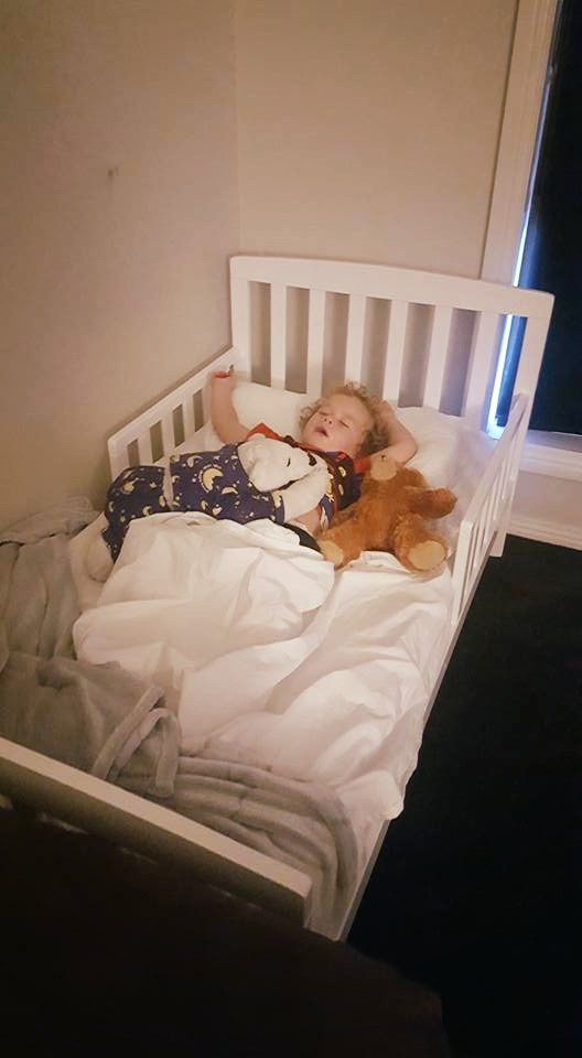 Toddler J with Nigh' Nigh' Sleepy Head 'TED'..jpg
