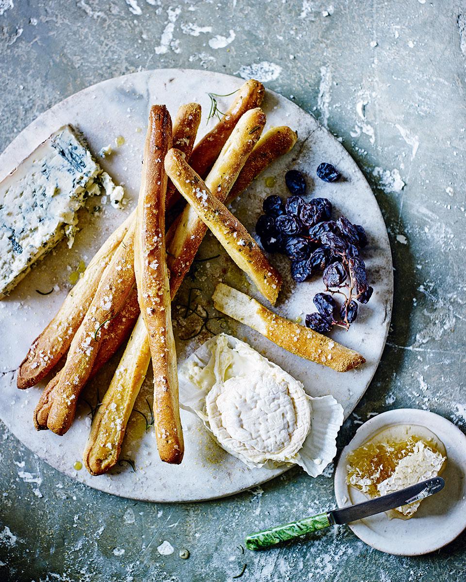 Herb and sea salt breadsticks